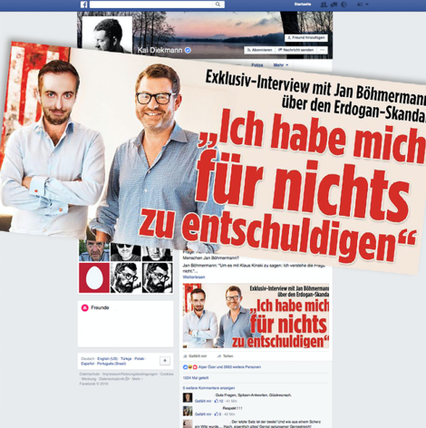 Diekmanns Fake-Interview mit Böhmermann: Öl ins Feuer einer lichterloh brennenden Debatte
