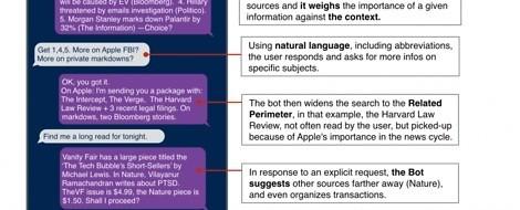 Wie conversational journalism mit Infobots aussehen könnte