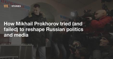 Russischer Milliardär Prochorow: Der Möchtegern