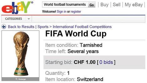 Versteigert die WM einfach auf eBay