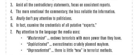 Handbuch für MedienkonsumentInnen: Terrorismus-Edition