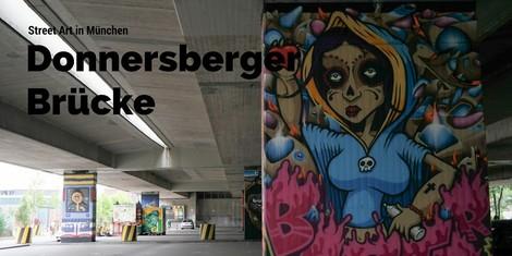 Diese großartige Graffiti-Galerie findet ihr unter einer hässlichen Münchner Brücke