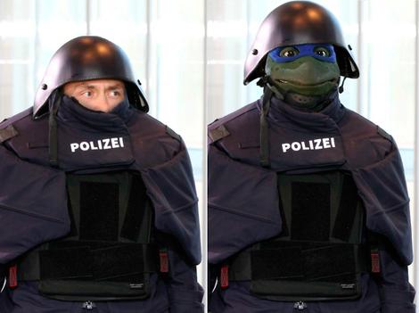 Bayerische Polizei im Darth-Vader-Look