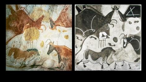 Moderne Kunst und urgeschichtliche Werke
