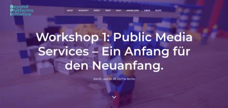 Jenseits der Plattformen: Eine Initiative will die Idee der Public-Media-Services voranbringen