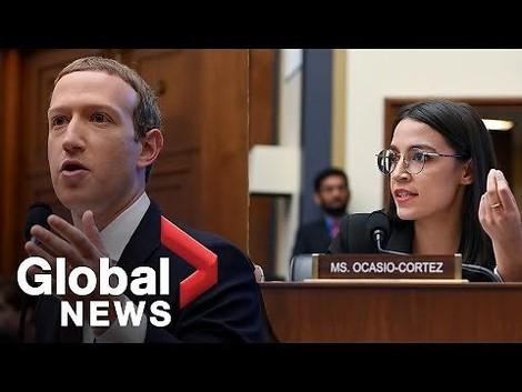 """""""Aaahm Congresswoman"""" - Mark Zuckerberg endlich hart interviewt, von Alexandria Ocasio-Cortez"""