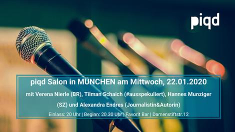 piqd Salon #17 in München: Wem gehört die Stadt | Handydaten | Mexiko