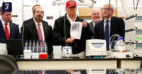 Von leichter Grippe bis totaler Krieg: Donald Trumps Corona-Kurs in 30 Zitaten