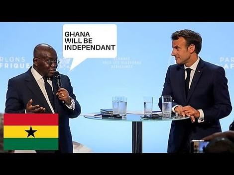 Unabhängigkeit: Der Präsident von Ghana erklärt Macron, was das für Afrika wirklich heißt. Chapeau!