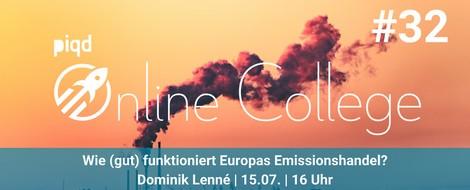 Wie (gut) funktioniert Europas Emissionshandel? | 15. Juli, 16 Uhr